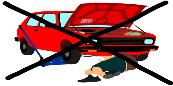 رفتن زیر خودرو بدون